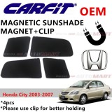 CARFIT OEM Magnetic Custom Fit Sunshade For Honda City Yr 2003-2007 (4pcs Sets)